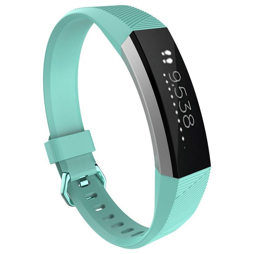 Para fitbit alta hr pulseira de silicone de luxo relógio de substituição banda cinta transporte da gota 0719