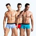 Envío gratis 2017 nuevos hombres del boxeador de la alta calidad de los hombres atractivos del boxeador shorts hombres boxer underwear venta caliente plus tamaño 06