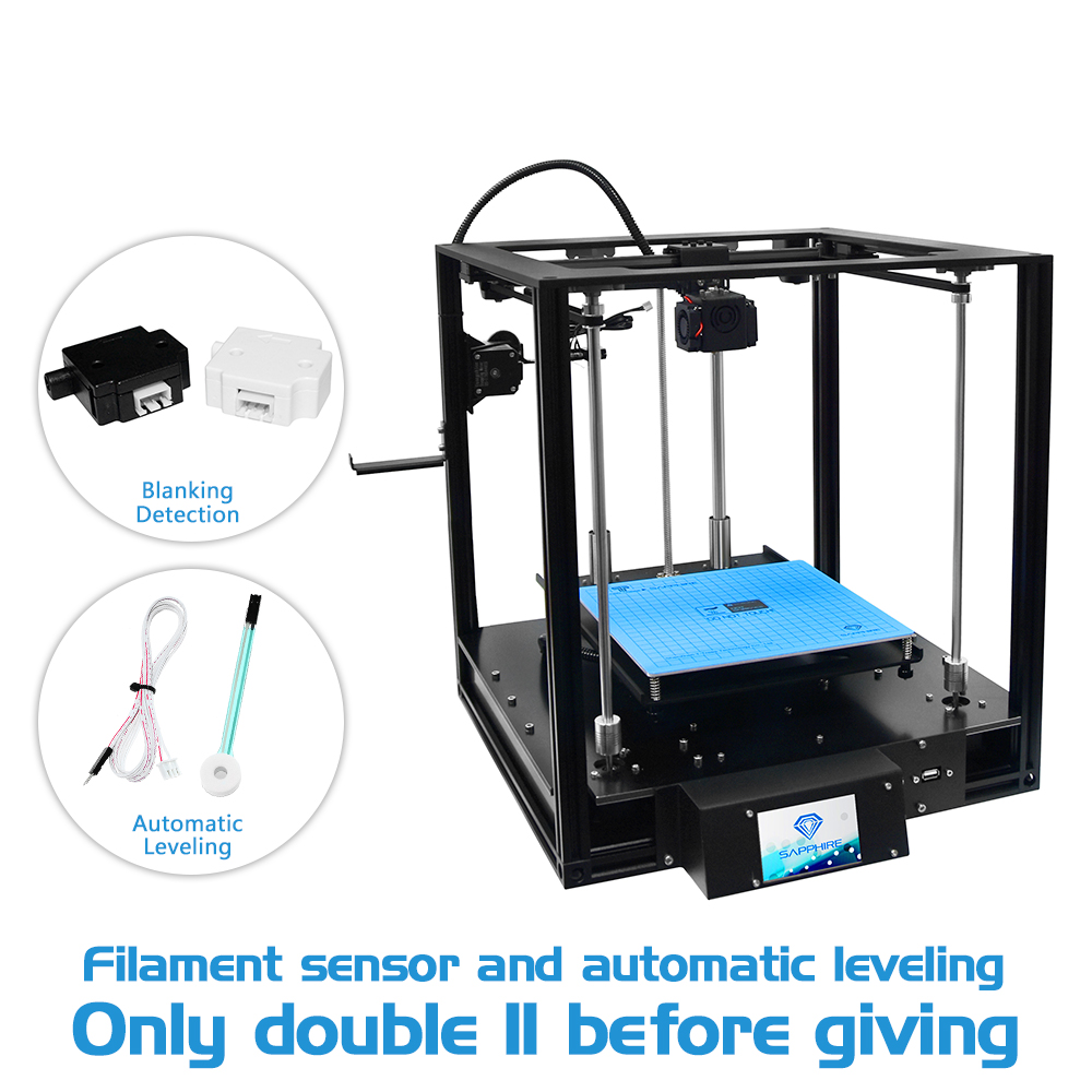 Newest Sapphire 3D Printer Aluminium Profile Frame Core XY Structure 200*200*200 mm printing size power off continuous printing 19v 9 5a 19 5v 9 2a ac adapter tpc ba50 power charger for hp 200 5000 200 5100 200 5200 aio envy 23 1000 23 c000 23 c100 23 c200