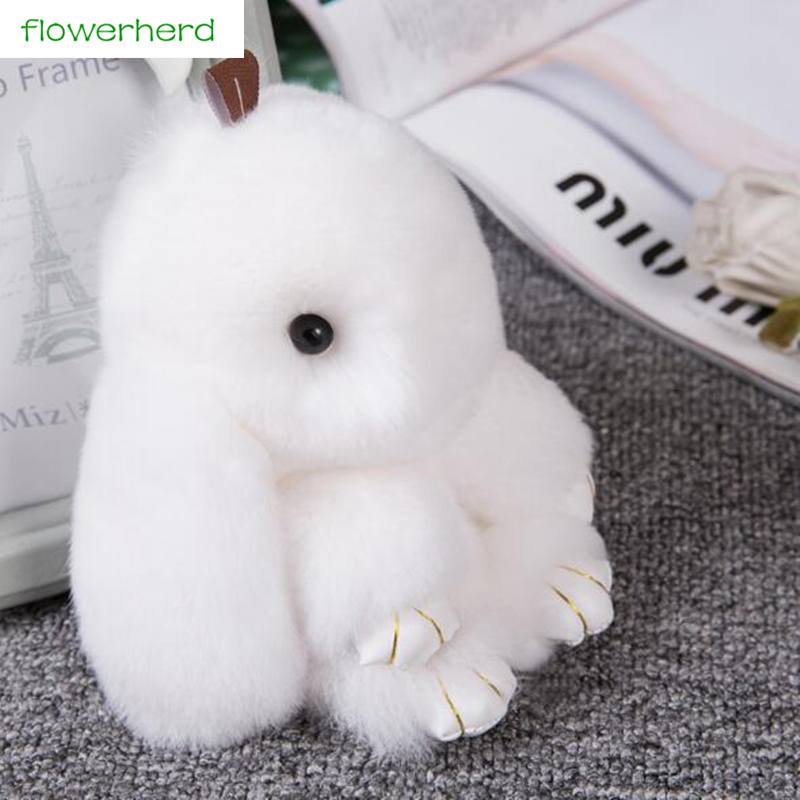 13CM Cute Mini Rabbit Bunny Keychain Gift for Guest New Year Gift for Kids Rabbit Toy Doll Hanging Pendant Decoration for Home
