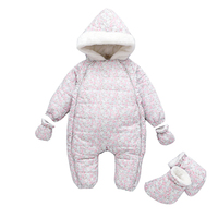 Children Girls Climbing Clothes Outfits Rompers 1 Year Baby New Born Clothes Fleece Winter Jumpsuit Pink