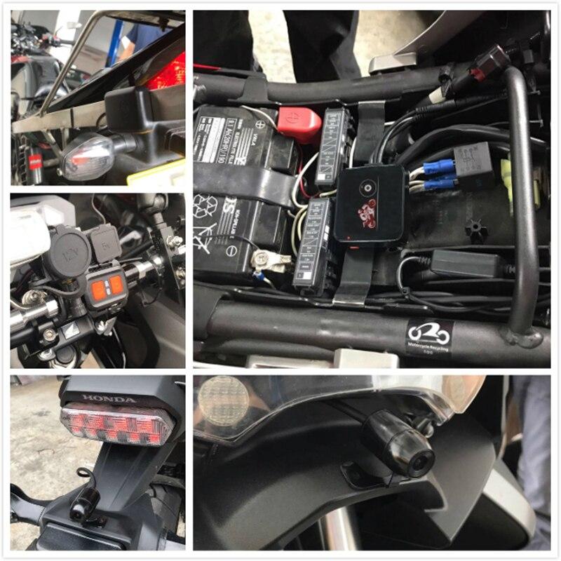 SYS VSYS M6L WiFi de la motocicleta DVR Dash Cam Full HD 1080 P HD + 720 P delantera y trasera vista impermeable motocicleta negro cámara grabadora caja - 5
