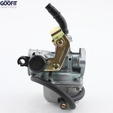 GOOFIT ATV Quad Go-kart PZ19 19mm Carburetor Air Filter Cable Choke Chinese 90cc 110cc 125cc carburetor 35mm motorcycle Group-84