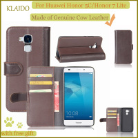 KLAIDO Genuine Cow Leather Mobile Phone Case For Huawei Honor 5C Phone Case For Huawei Honor