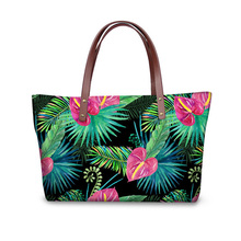 Luxury Brand Women Shoulder Bags Tropical Style Big Messenge
