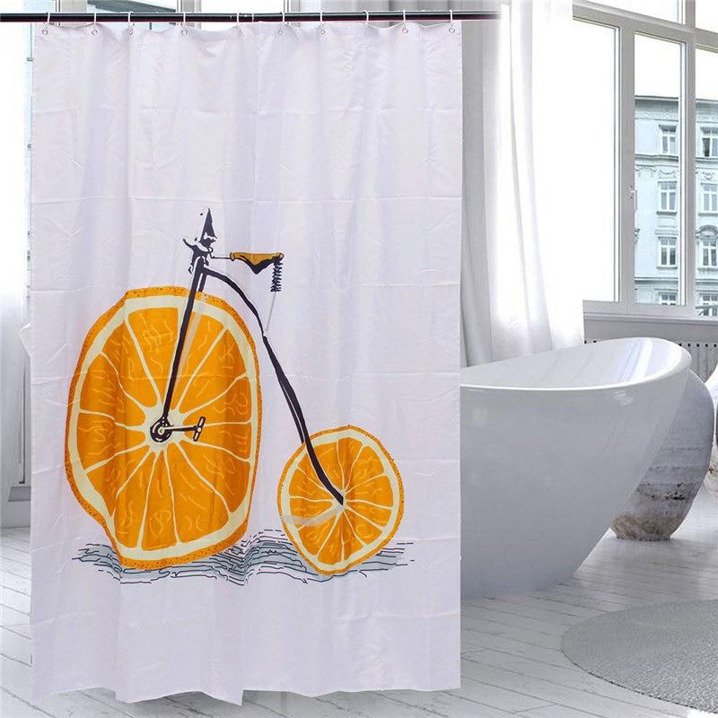 Moda Naranja Bicicleta de 100% Tejido de Poliéster Mildewproof Impermeable Baño