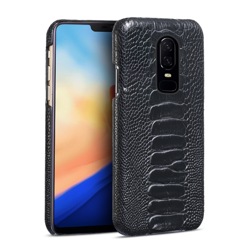 Genuine Leather phone case For Oneplus 3T 5 5T 6T Case Natural Ostrich Foot Skin back cover For Oneplus 6T real leather casesGenuine Leather phone case For Oneplus 3T 5 5T 6T Case Natural Ostrich Foot Skin back cover For Oneplus 6T real leather cases