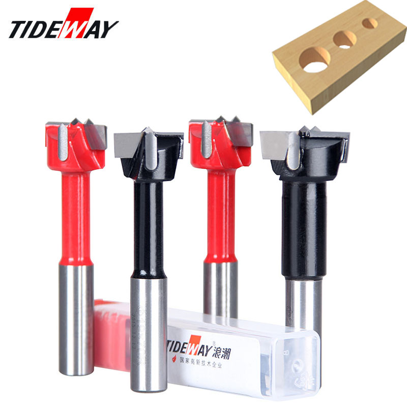 Tideway Forstner Carbide Wood Drill Bit Dia.10mm-30mm Router Bit Row Drilling For Boring Machine Wood Woodworking Endmill