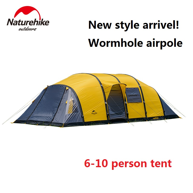 font b Naturehike b font factory sell Wormhole airpole 8 10 people Tent for Family