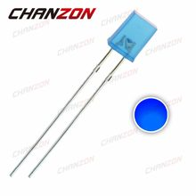 100pcs Rectangle 2X5X7mm Blue Diffused LED Diode Square 20mA DC 3V DIP LED Light Emitting Diode 257 Lamp Electronics Components(China)