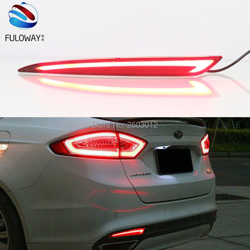 Multi-function For Ford Mondeo Fusion 13-16 LED Tail Lights Assembly Rear Bumper Lights Brake Lamp DRL Warning Light Car Styling car styling tail lamp for ford mondeo fusion 2013 2016 tail lights led tail light rear lamp led drl brake park signal stop lamp