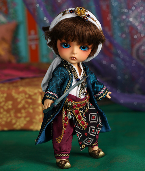 1/8 scale BJD about 15cm pop BJD/SD lovely kid Lea Aladdin Resin figure doll DIY Model Toy gift.Not included Clothes,shoes,wig original aladdin and the magic lamp action figures toy aladdin jasmine princess model doll
