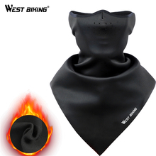 WEST BIKING Bicycle Face Mask Hood Neck Winter Thermal Riding Scarf Breathable Bike Warm Fleece Windproof Ski Cycling