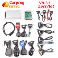 2pcs/lot Carprog V10.93 Carprog Full Newest Version (With All 21 Items Adapters) Car Prog update by carprog v9.31 with DHL free