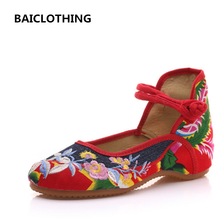 BAICLOTHING women cute spring and summer cloth shoes lady casual canvas rubber bottom shoes female buckle strap dance flats wmwmnu flower embroidery jeans female light blue casual pants capris 2017 spring and summer pockets straight jeans women bottom