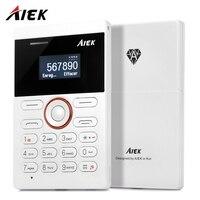 1.0 inch מיני AIEK E1 כרטיס סלולרי PhoneQuad Band כרטיס נגן אודיו FM טלפון סמארטפון טלפון נייד קטן לילדים מתנות