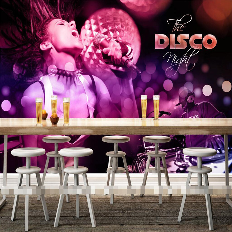 wallpaper-3D Pa Mak ladies dancing singing Disco Nightclub Entertainment wall pictures mural murals-3d wall papers home decor