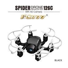 RC Drone FQ777 126C MINI Araignée Drone HD Caméra 3D Rouleau une Touche pour Revenir Double Mode 4CH Mode RC Hélicoptère Quadcopter
