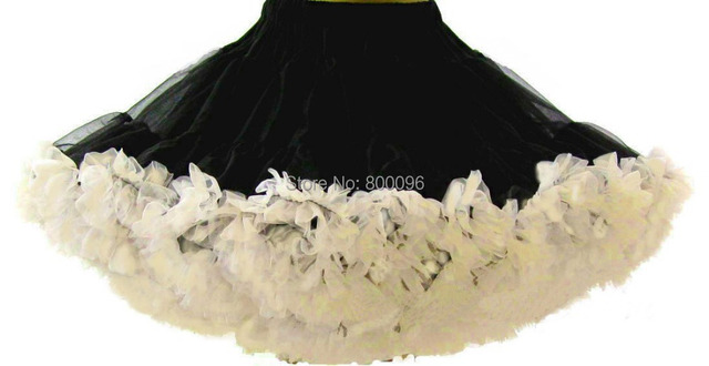 Baby kids black and white girls fluffy dance wear pettiskirts cute chiffon tutu princess skirts PETS-022