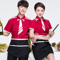 Cafe Chef Bistro Uniforms Waitress Painter Baker Workwear Waiter Clothes Women Restaurant Western Hotel Shirt J116