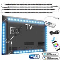 Magic Home inalámbrico WiFi inteligente USB LED tira 5050 RGB Flexible escritorio LED luz 5V RGB Color cambiable TV iluminación de fondo