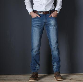2019 Casual Slim Stretch Jeans Denim Pants Trousers For Men High Quality 1