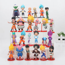 6 pçs/set Anime Dragon ball Z goku DBZ Piccolo Gohan super saiyan Vegeta Piccolo zenoh PVC Action Figure Toys presente das crianças(China)