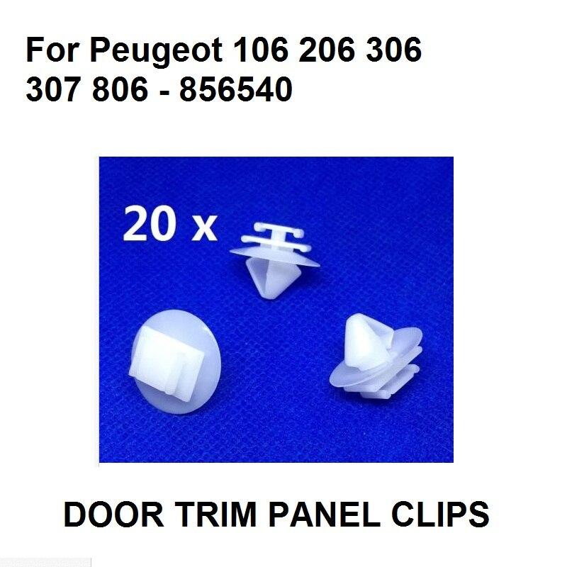 20x Clips Citreon Peugeot Exterior Door Moulding Bumpstrips /& Trims