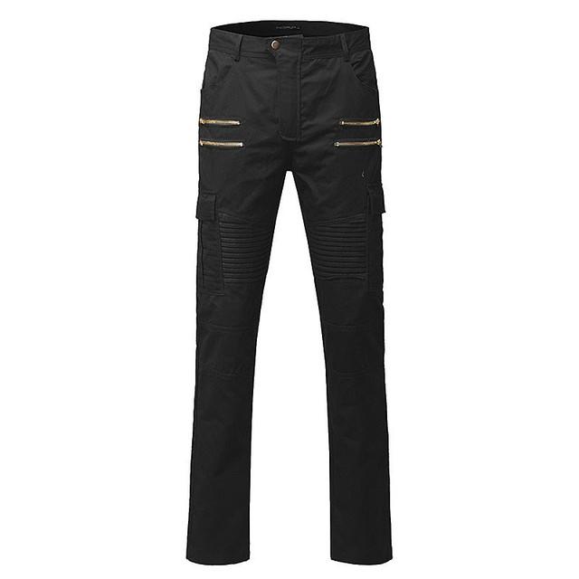 De alta Calidad de Los Hombres Pantalones 2017 Nueva Moda Pantalones Casuales Hombres Nueva diseño de Mezcla de Algodón Para Hombre Pantalones Rectos de Estilo de Color Sólido de Gran Tamaño