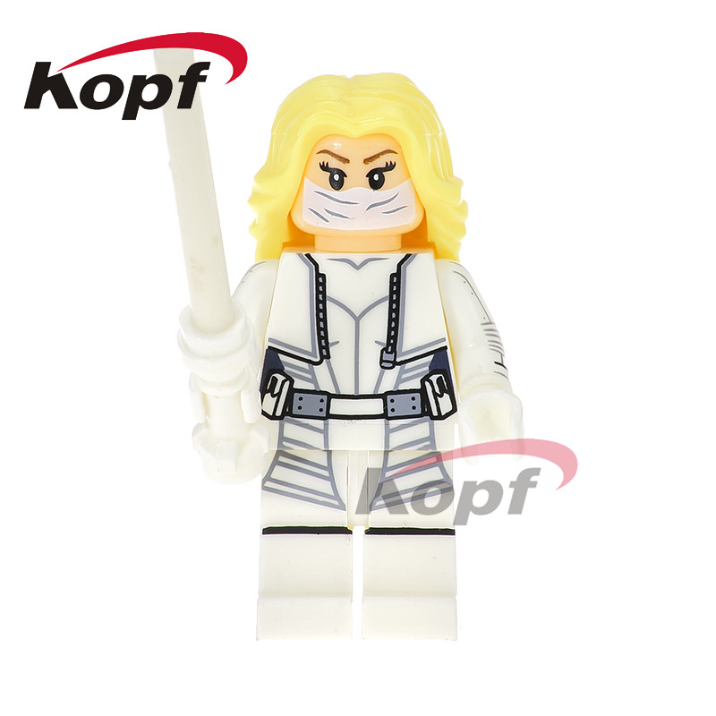 Single Sale Super Heroes White Canary Elektra Adam Mister Terrific Legends Of Tomorrow Building Blocks Toys For Children XH 729