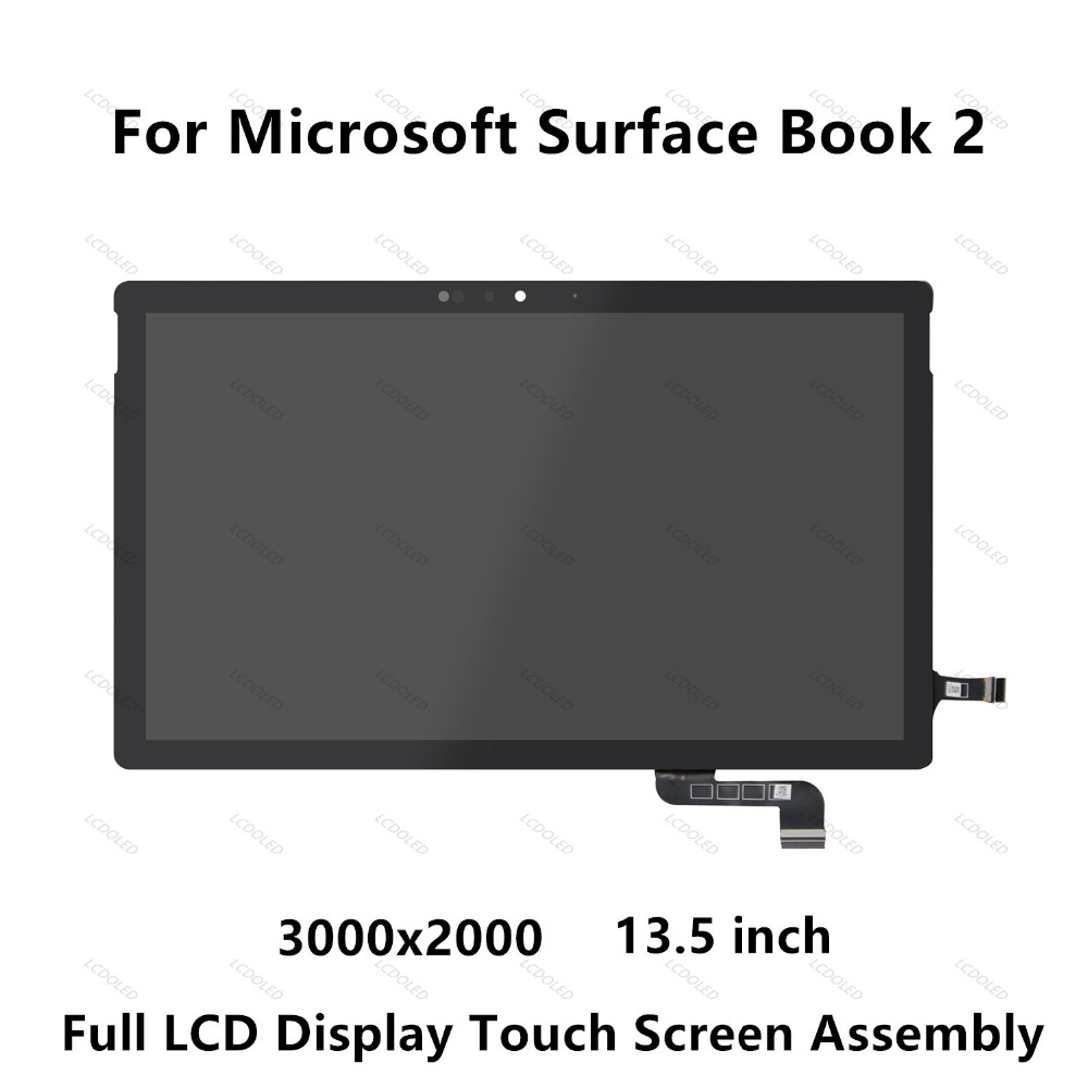 цена на For Microsoft Surface Book 2 (13.5 inch) Full LCD LED Display Panel Touch Screen Glass Digitizer Assembly 3000x2000 IPS Panel