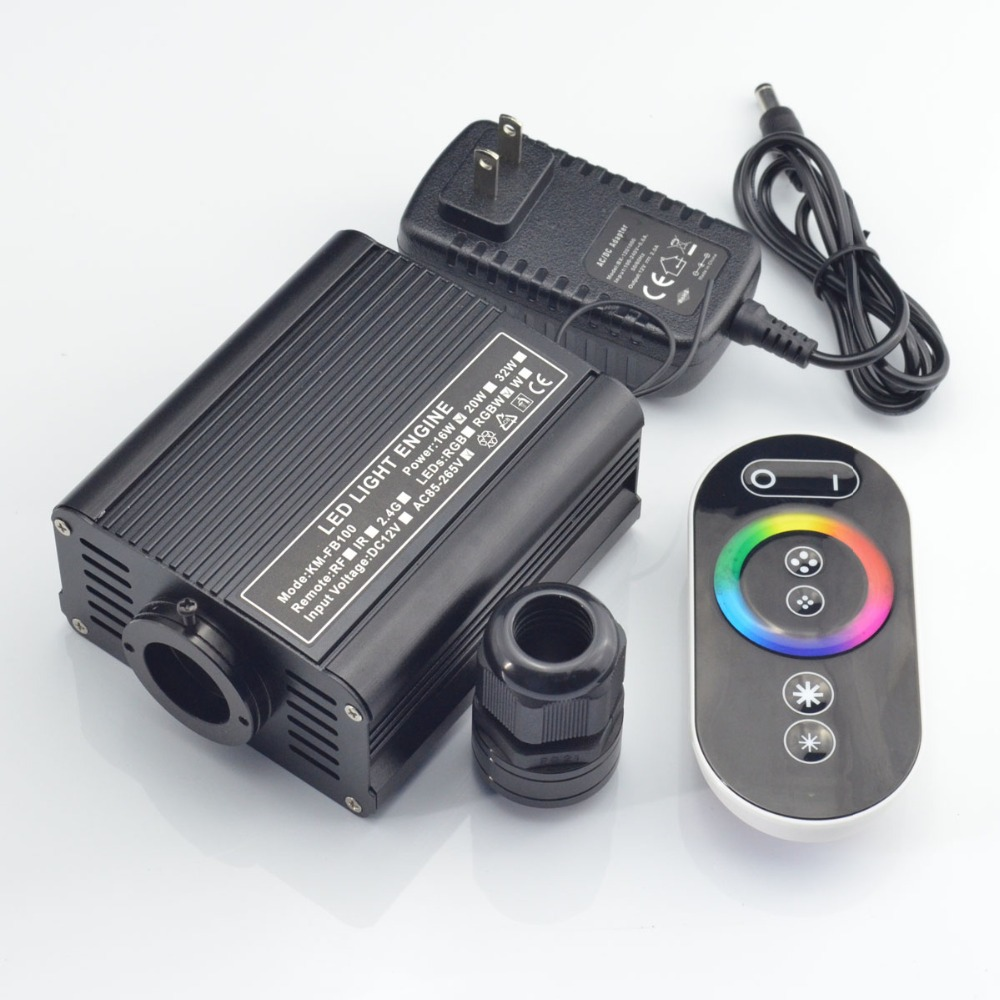 touch  remote 16W LED RGB Fiber Optic light engine for night sky ceiling