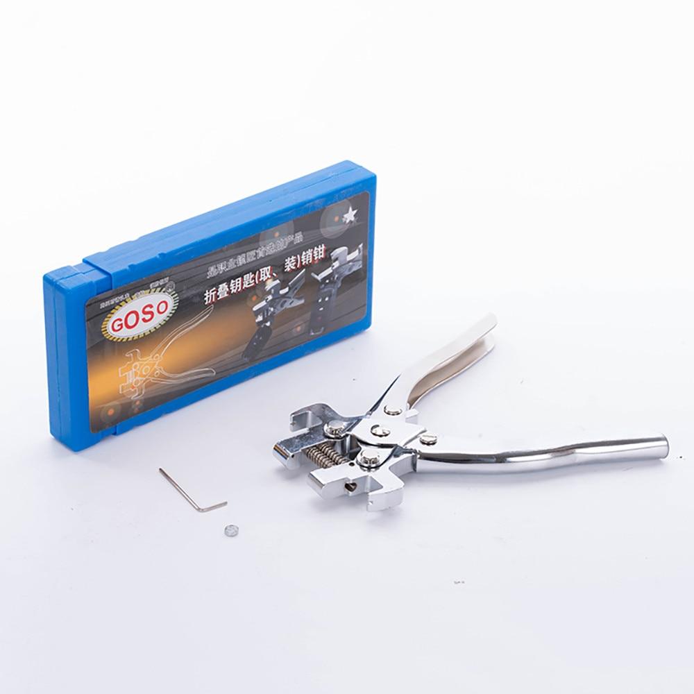 Goso Fixing Flip Folding Key Vice Remover Flip-key Pin Remover For Locksmith Tool Split Pin Fixing Disassembly Tool