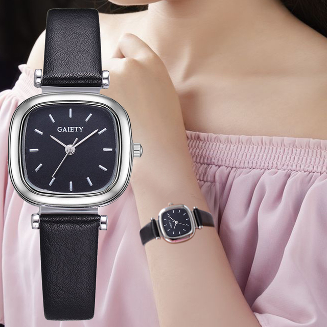 Watch Women Leather Strap Square Sport Watch Fashion Casual Ladies Business Brac