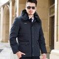2016 Outono Inverno homens Gola De Pele Longos e Grossos Plus Size parka P67 revestimentos do inverno dos homens casacos de inverno e casacos