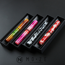 Wanwu Creative Celluloid Mini Glass Dip Pen / Fountain EF/F/Small Bent Nib Pocket Size Dual-Use Colorful with Gift Box