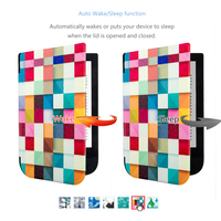 Folio PU Leather Cover Case For 2016 Pocketbook Touch Hd 631 Ereader Screen Protector Stylus