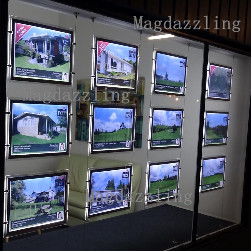 12PCS A4 LED 2 Sided Crystal Frame LED Light Panel Landscape+ Kits ...