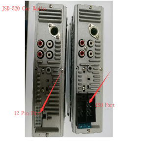 Image 5 - Podofo Autoradio JSD 520 12V 대시 1 Din Bluetooth 차량용 라디오 SD MP3 플레이어 자동 오디오 스테레오 FM 수신기 Aux 입력