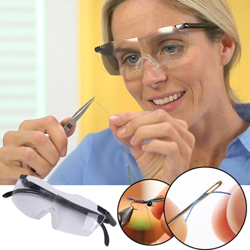 Glasses Magnifier Magnifying Presbyopic Glasses Eyewear Reading 160% Magnification to See More and Better Magnifier Portable jetery unisex pro magnifying presbyopic glasses eyewear 160