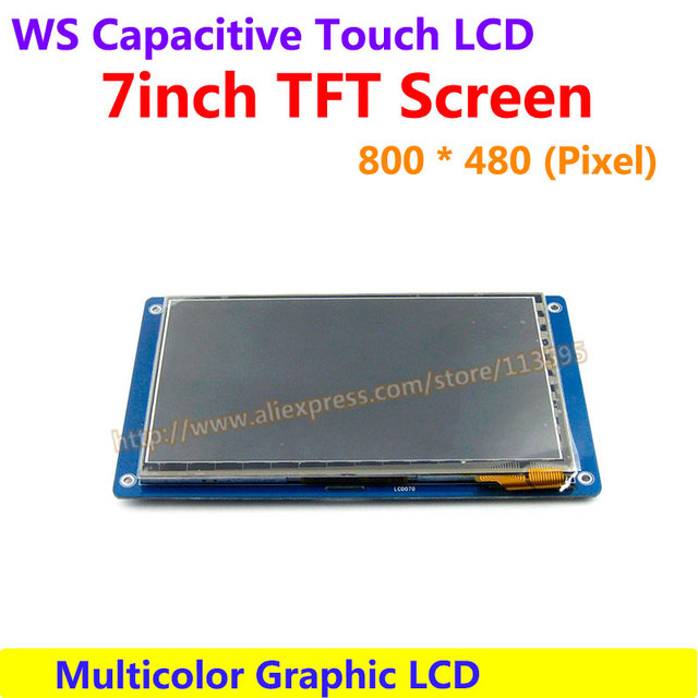 7inch Capacitive Touch LCD Display Module 800*480 Multicolor Graphic LCD TFT TTL Screen LCM