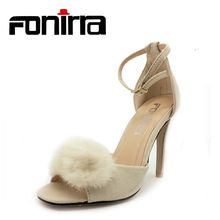 ФОТО fonirra high heels sandals sexy ankle strap thin heel pumps for women summer wedding shoes ladies party peep toe pumps 600