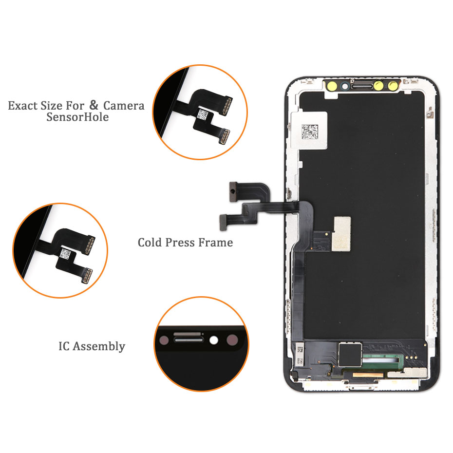 Image 3 - Grade AAA+ OEM For iPhone X S Max XR LCD Display For Tianma AMOLED LCD Touch Screen With Digitizer Replacement Assembly Parts-in Mobile Phone LCD Screens from Cellphones & Telecommunications