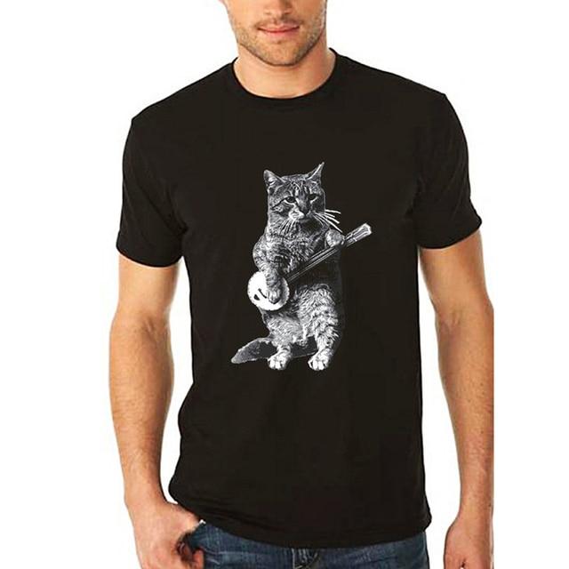 ab3c6c1ffb2 cat tshirt mens cat shirt banjo shirt cat lover gift music lover gift Funny  Banjo Cat tshirt for Men Women