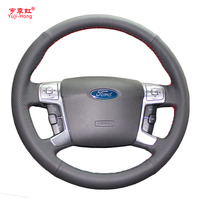 Yuji Hong Artificial Leather Car Steering Wheel Covers Case For Ford MONDEO 2007 2012 CHIA X