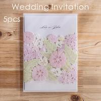 Wedding Cards Carved Romantic Birthday Delicate Flower Elegant Wedding Invitation Cards Party Events Birthday Cards Decor 3