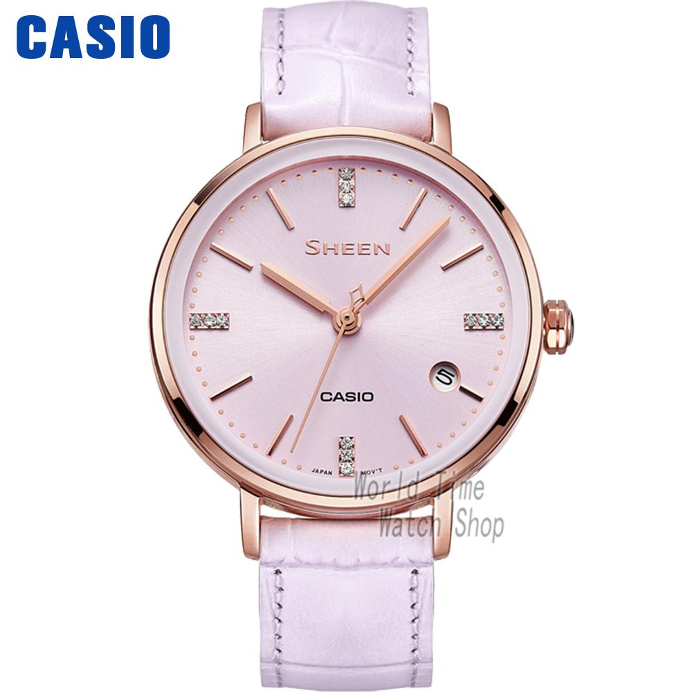 Casio watch fashion trend Ms. quartz watch SHE-4048PGL-6A casio watch fashion trend ms quartz watch she 4048pgl 6a