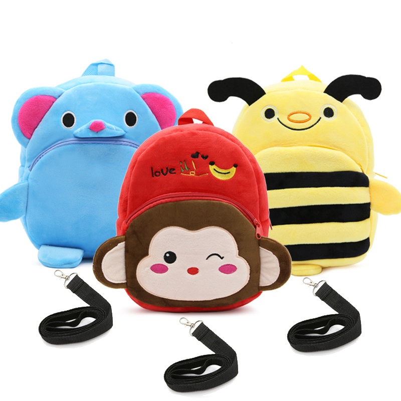 Drop Shipping Children Anti-lost Traction Backpacks 2~4 years old kids toys bags Cute Cartoon Nursery School Shoulder Bags (FZS)Drop Shipping Children Anti-lost Traction Backpacks 2~4 years old kids toys bags Cute Cartoon Nursery School Shoulder Bags (FZS)