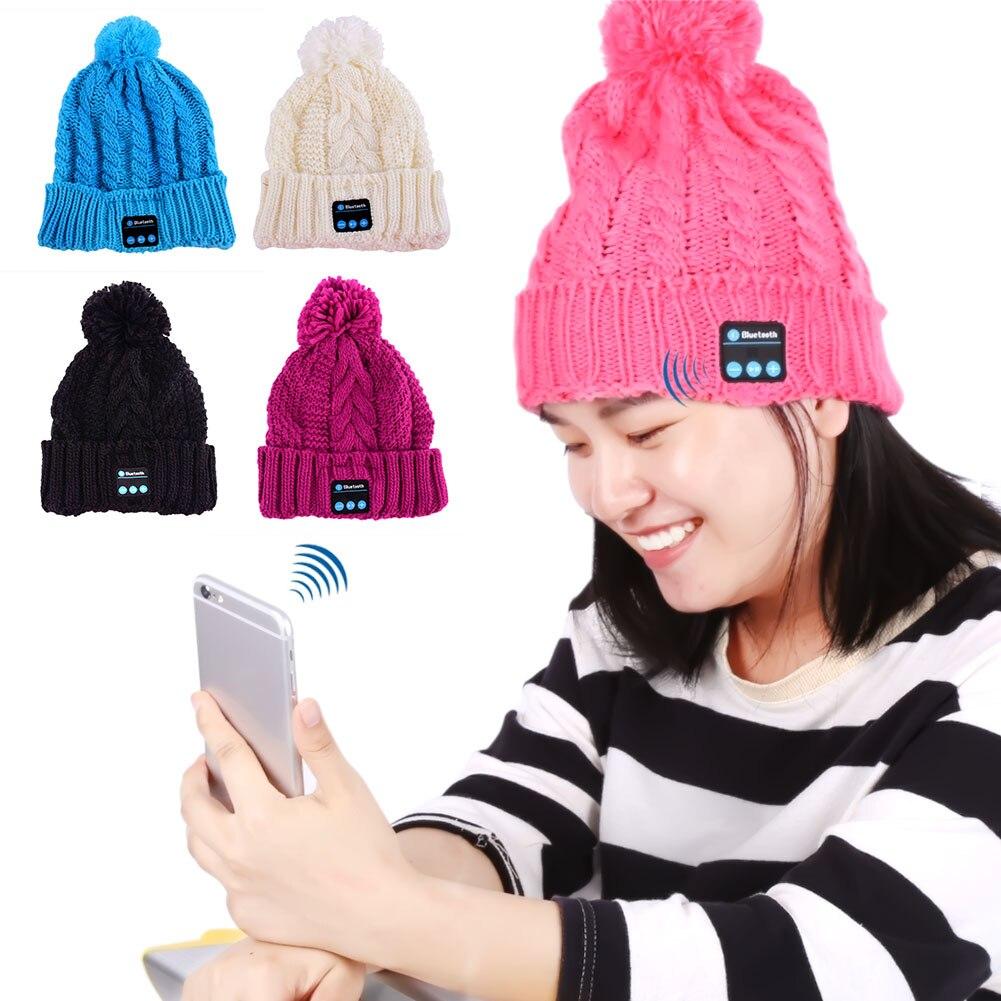 2016 Soft Warm Beanie Hat Wireless Bluetooth Smart Caps Headphone Headset Speaker Mic