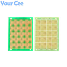 2pcs 5X7cm FR4 Double Side PCB Prototype Universal Experiment Printed Circuit Board Epoxy Glass Fiber FR-4 Green 5*7cm(China (Mainland))